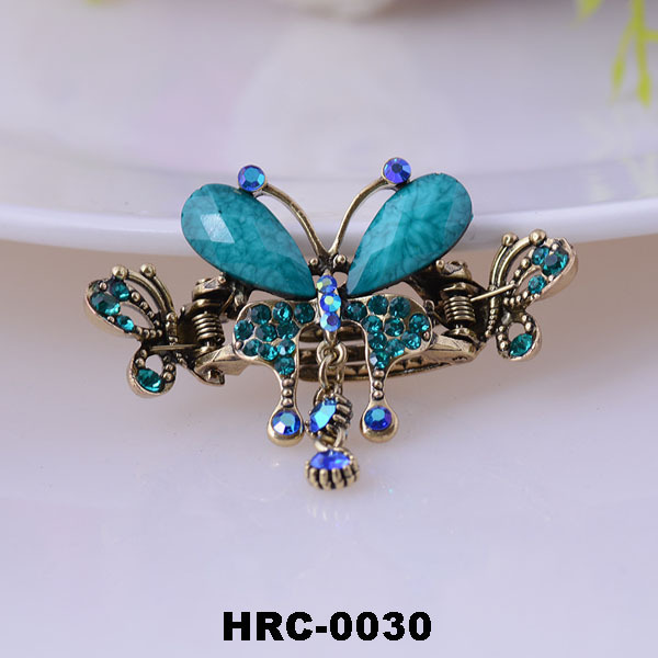 Fashion antique butterfly shape korean hair claw clip/decorative metal crystal hair claw clips
