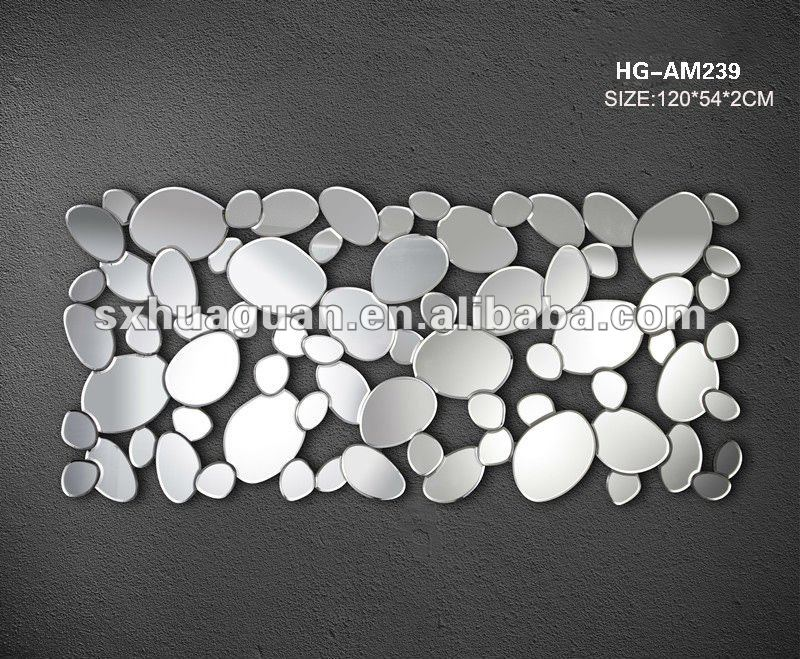 club decorative mirror ,3D art wall mirror HG-AM239