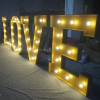 Shopping mall acrylic led light up bulb letter sign