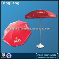 Custom red printing beach umbrella for advertising promotion