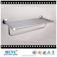 Aluminum chrome plating double pole bathroom towel rack, heated towel rack