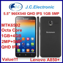 Cheap Original Lenovo A850+ mobile phone octa core 5.5 inch IPS Android 4.2 MTK6592 Dual SIM Multi Language smart phone