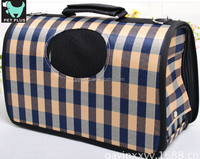 New designer folding fabric pet carrier carrying soft dog cage bag