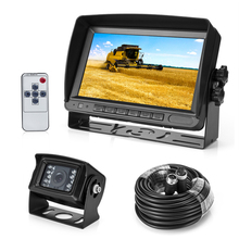 Hot 12V/24V 7 inch stand monitor and 18 IR lens bus car rear view camera system