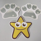 many cartoon shape PET Exquisite grit anti-slip mats for bathtubs