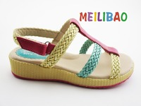 Popular new design fashionable color combination sandals