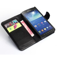 Manufacturer Best Selling Flip Leather Case For Samsung Galaxy S4 Active Case I9295