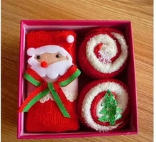 Christmas promotion of towel cake