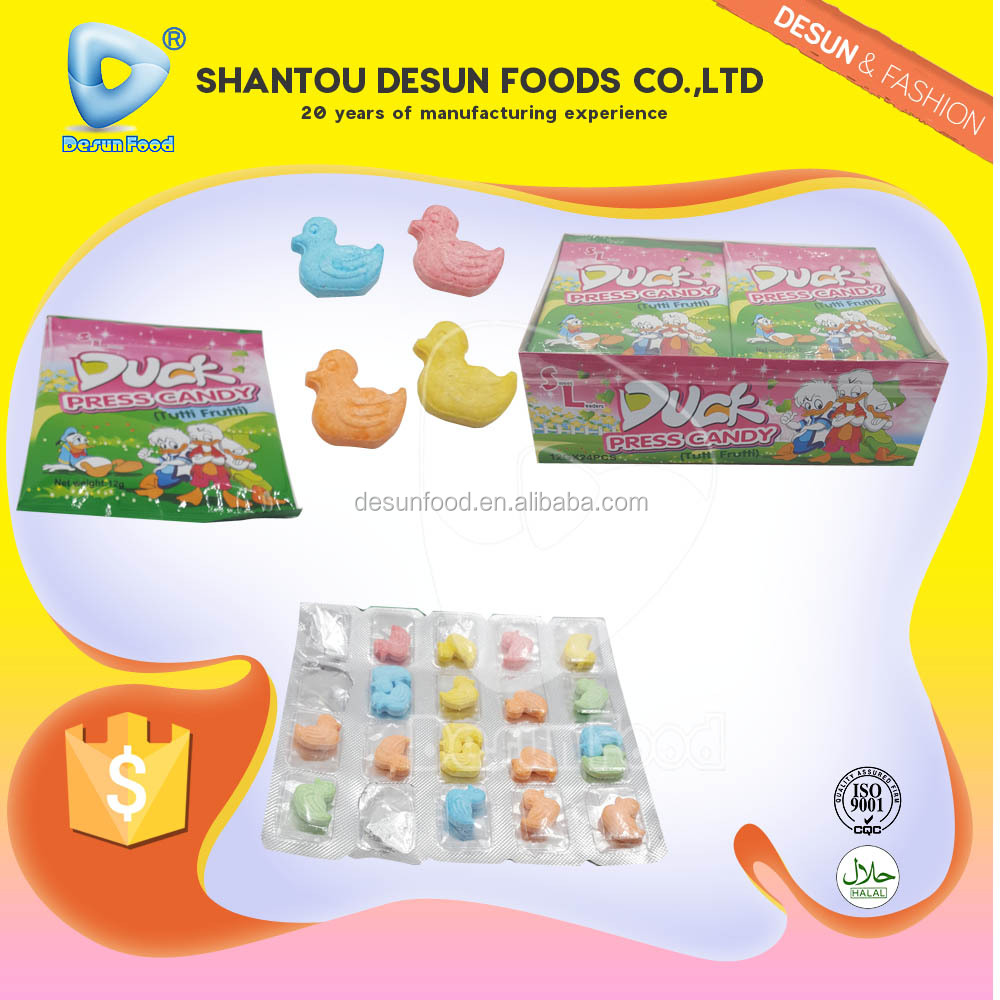 Halal tutti frutti duck press candy