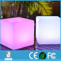 High quality 40cm solid durable Led chair cube