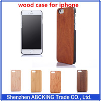 for iPhone 5 Wooden Case Genuine Walnut Wood Case for iPhone 5S Handmade Wood Slim Durable Polycarbonate Bumper