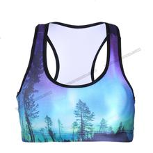 OEM custom 4 stitching 6 lines forest yoga tank tops fitness apparel