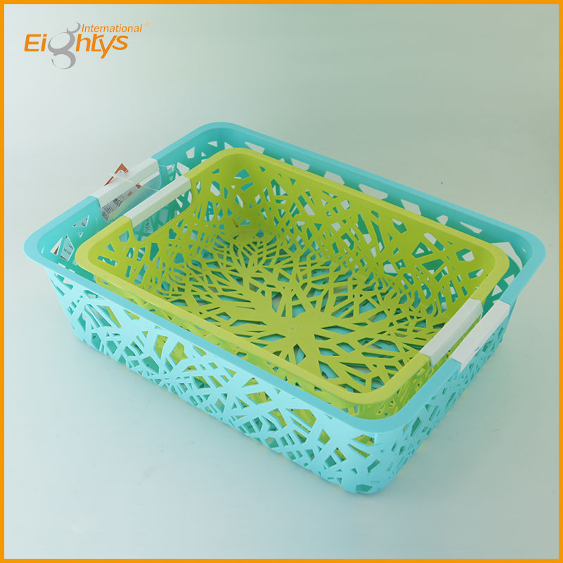 houseware small size flower plastic vegetable storage basket