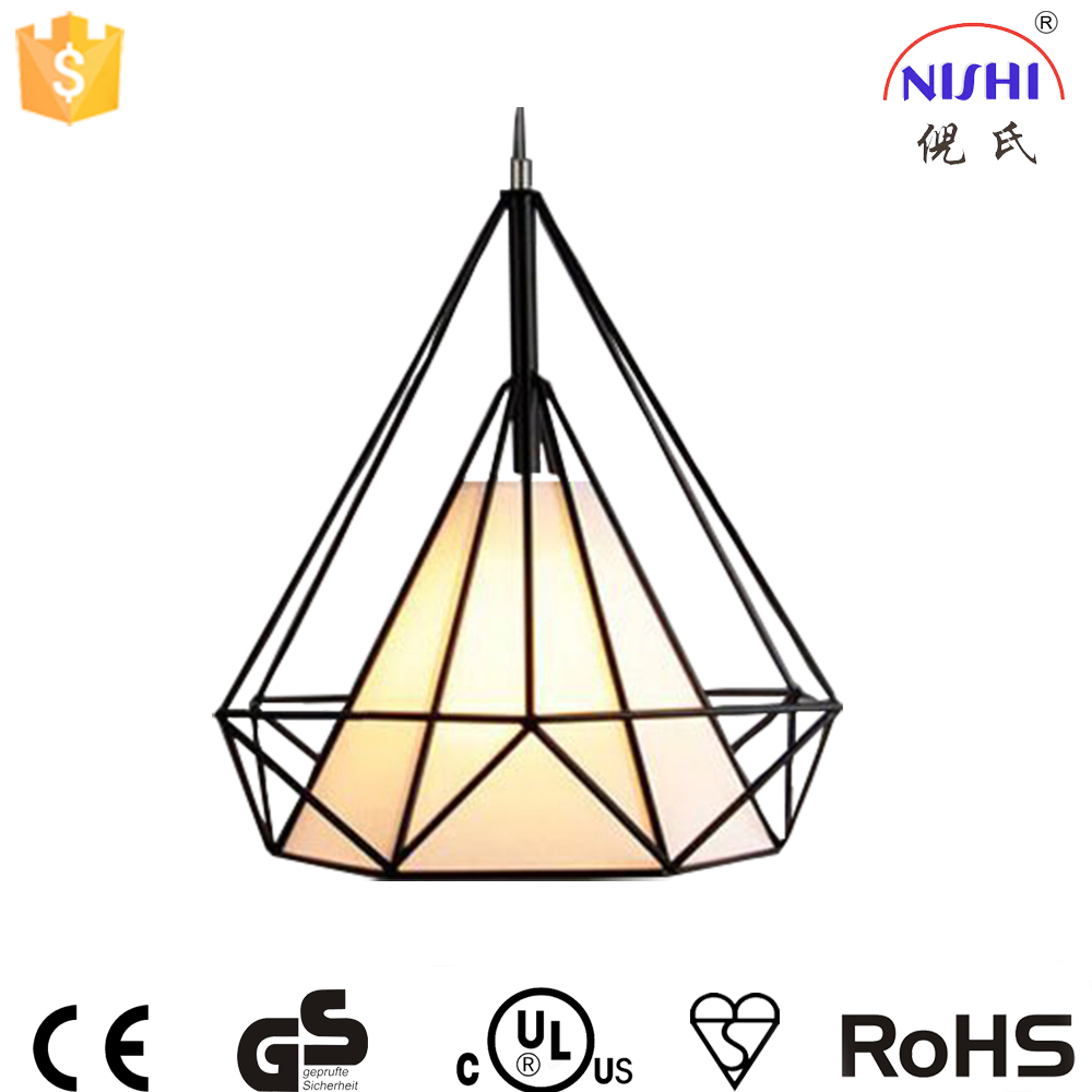modern style pendant lamp iron wrought led chandelier china for coffee restaurant NS-125037