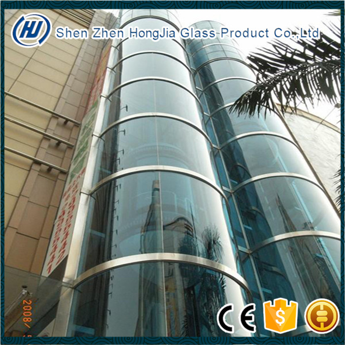 Factory price 4mm-12mm bent building elevation glass