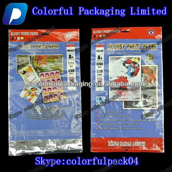 photo print plastic bags/Foil lined bag with handle