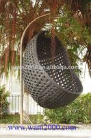 Aluminum PE Wicker Swing Chair