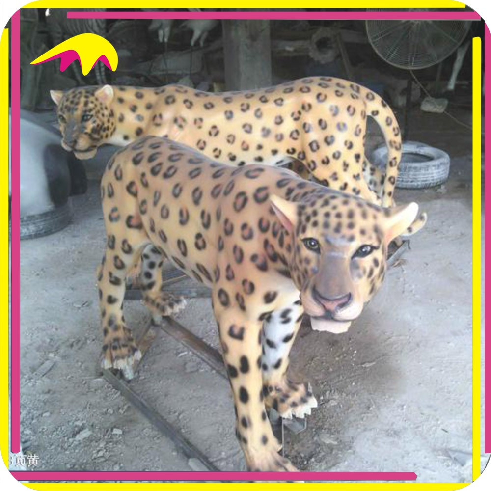 KANO5152 Real Size Leopard Animal Statue Home Decor
