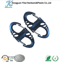 China product double carabiner plastic , plastic spring hook,plastic carabiner