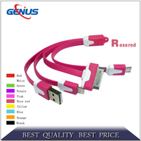 4 in 1 USB Cable Multi USB Cable Charging and Date Sync USB Cable for All Smartphone