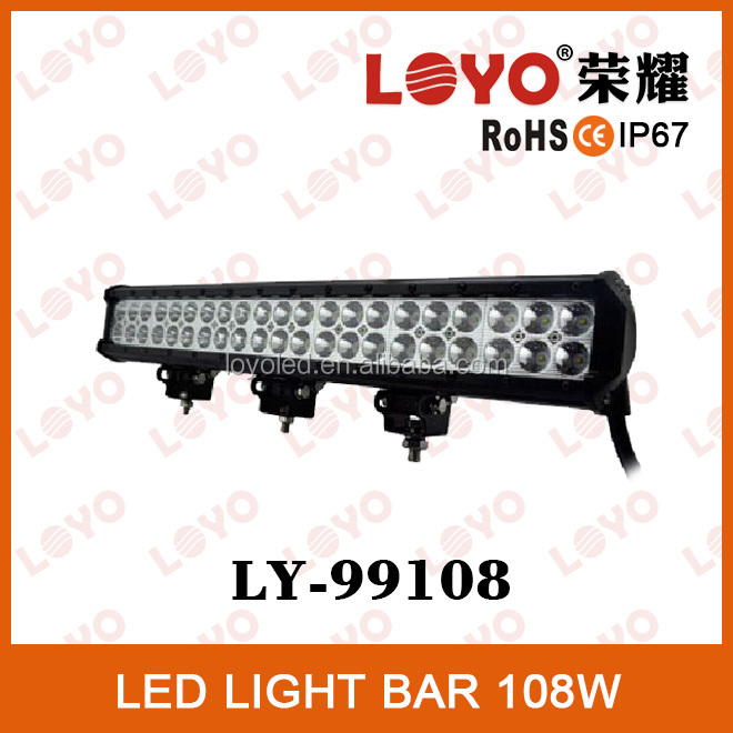 LED auto car roof light lamp with IP67 waterproof led light bar 108W car roof light