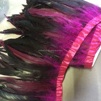 Dyed Rooster Saddle Feather Trims/ Trimming/ Fringe for Garment Decoration