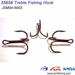 35656 fishing hook manufacturers high carbon steel treble hook