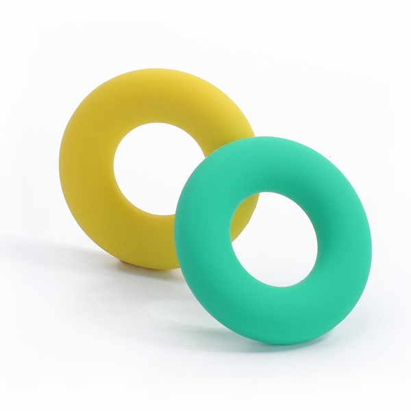 Food Grade Silicone Teething Necklaces Silicone Teether Donut Baby Toy Wholesale