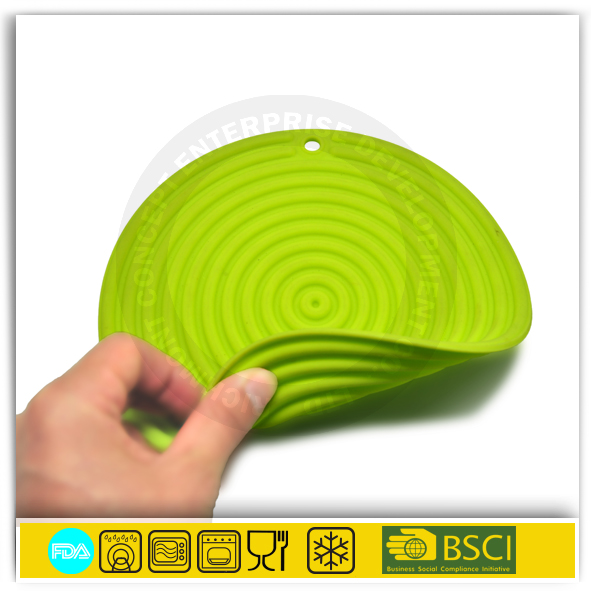 BSCI Sedex factories circles round silicone rubber table mat trivet