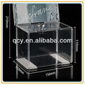 QCY-CO-40 OEM acrylic suggestion box with brochure holder