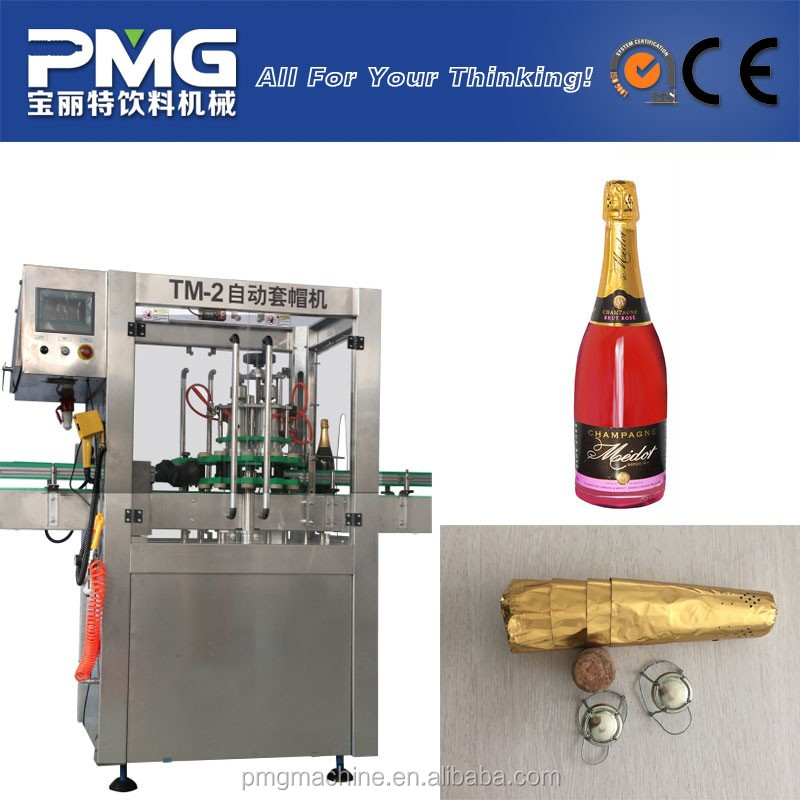 Full automatic Wine Bottle Corker / Alcohol Corking Machine for beverage line