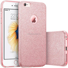Amazon hot sell 3 in 1 Combo Soft TPU Hard PC Clear cover For iPhone 6 6s Case For iPhone 6 Plus 6s Plus
