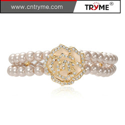 Free nickel and lead AAA stone gold plated colorful zircon bracelet