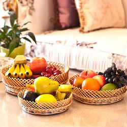 Green environmental protected willow bread basket snacks dry fruit basket