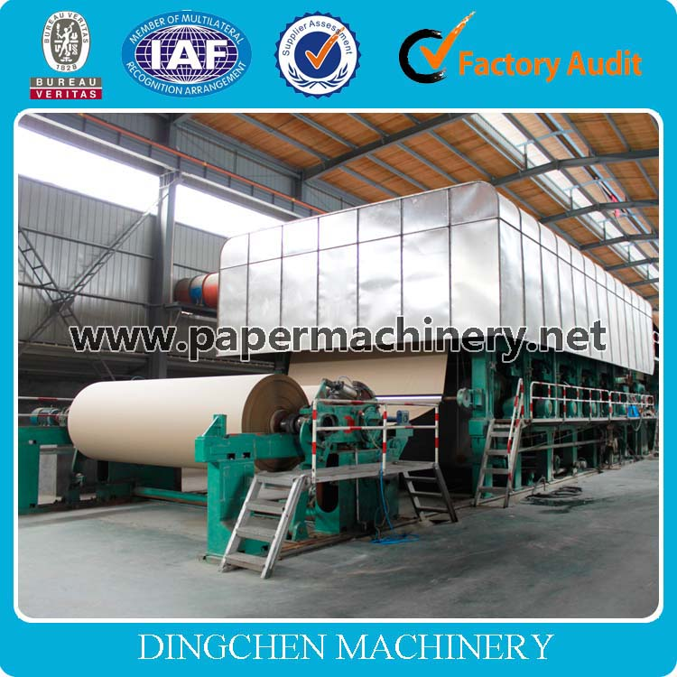 1880mm low investment corrugated paper test liner production line and kraft paper making machine