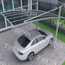 Fashion Alloy Aluminum Frame Car Parking Shelter/ carport with PC Roof