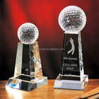 China madufacture supply, sports theme k9 crystal golf trophies