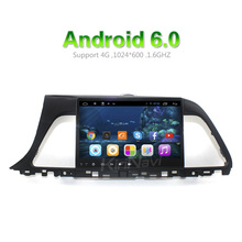 "KiriNavi WC-HS1028 Android 6.0 10.2"" car radio dvd for hyundai sonata in dash car gps navigation system 2016 + touch screen"