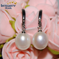 top 8-9mm AAA drop real freshwater latest design of pearl earrings