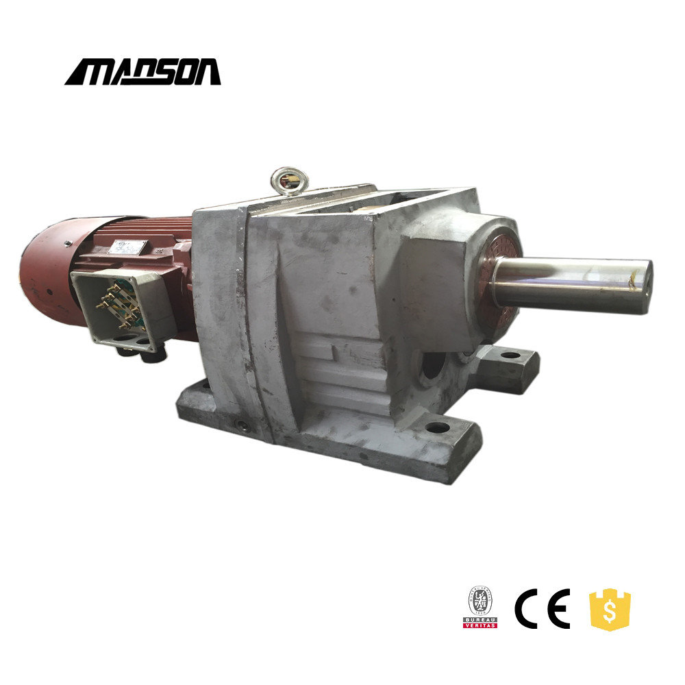 Helical gear boxes R series inline speed reducer factory