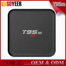 Soyeer T95M 1G 8G Download The App Store For Free Quad Core Android tv box Amlogic S905 Amdroid 5.1