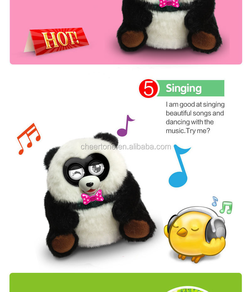 2014 hot new Electronic plush toy (Panda ), kids & adult love it