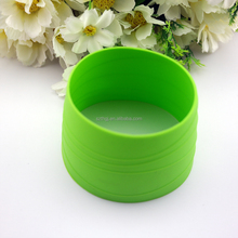Heat resistant custom reusable silicone cup sleeve for coffee