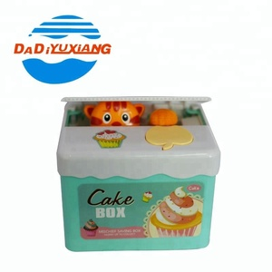Best gift cake electric safe plastic money box with panda inside