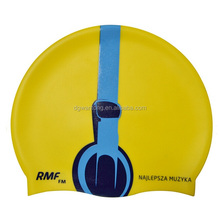 High quality soft silicone swimming cap