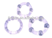Different size artificial cock rings 3 pieces per pack