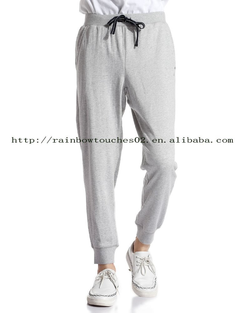 drop crotch gray comfortable men's fancy pants
