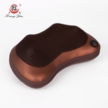 FJ-8018 Home Use Good Quality Mini Heated Car Massage Pillow / Shiatsu Neck Massager