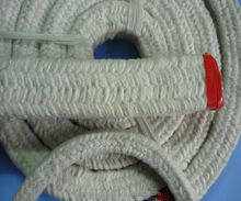 Braided white Ceramic fiber square rope