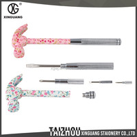 Fashion design 6 in 1 metal floral specification hammer